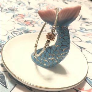PANDORA Silver Charm Bracelet with Rose Clasp